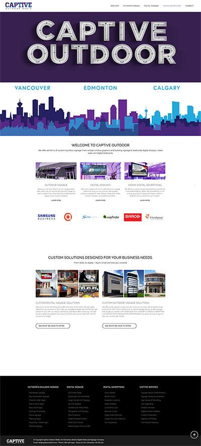 captive outdoor homepage website design