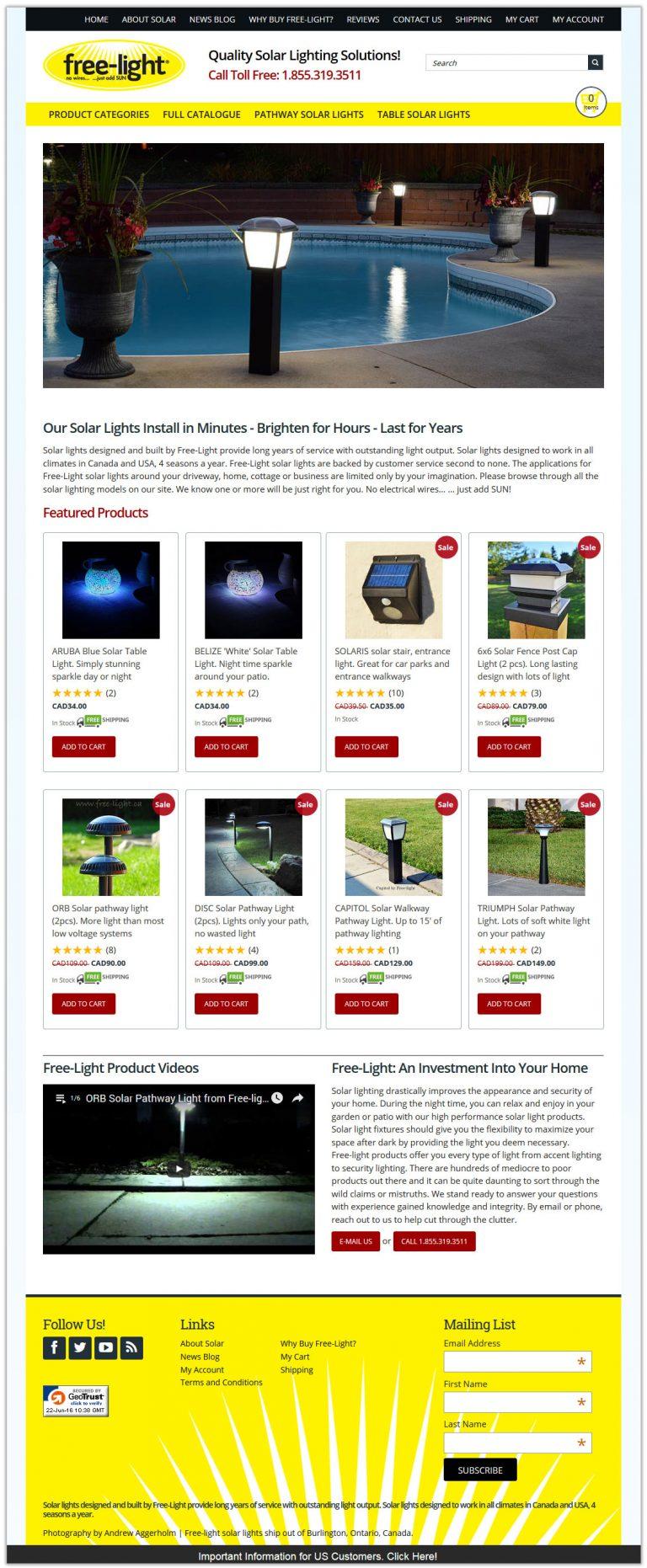 free-light tall website layout
