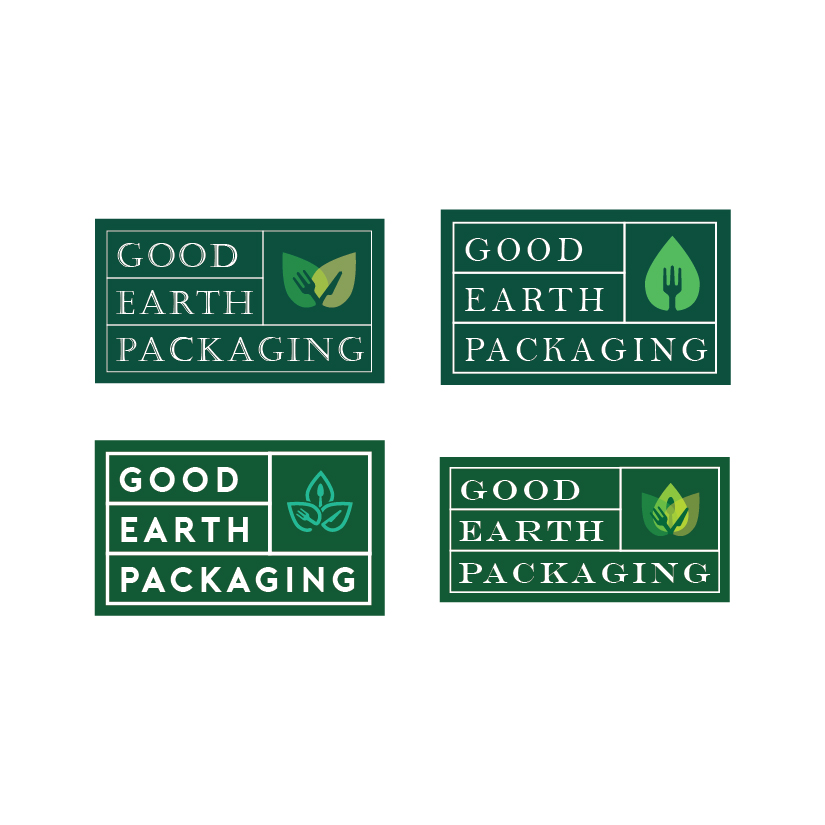 Good Earth Packaging logo concepts round 2