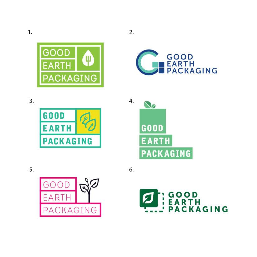 Good Earth Packaging lgoo concept design, Big Boy Marketing Agency